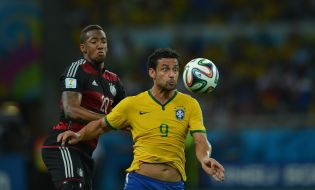 L'équipe d'Allemagne en demi-finale contre le Brésil