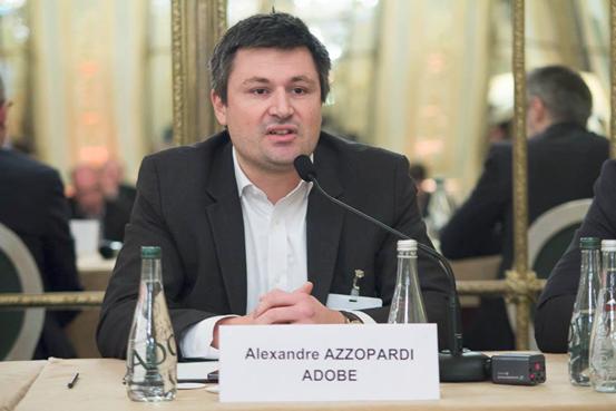 Légende: Alexandre Azzopardi d'Adobe «le décollage de la DMP date de début 2012» (photo CCM Benchmarck)