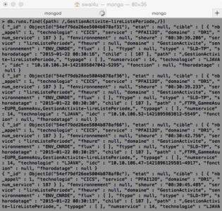 MongoDB - Chemin qui contient
