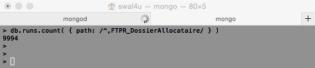 MongoDB - Comptage des chemins