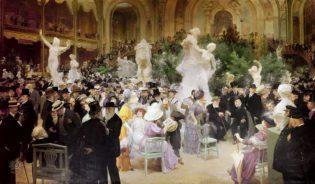 Un vendredi au Salon des Artistes français (1911) Source; Wikimedia