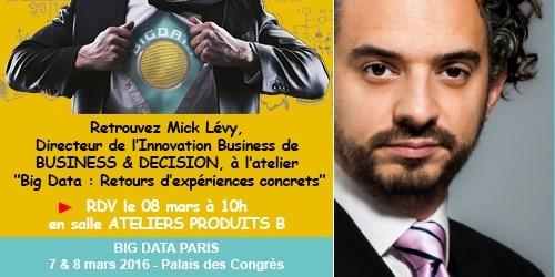 Big Data Paris: Atelier Big Data par Mick Lévy