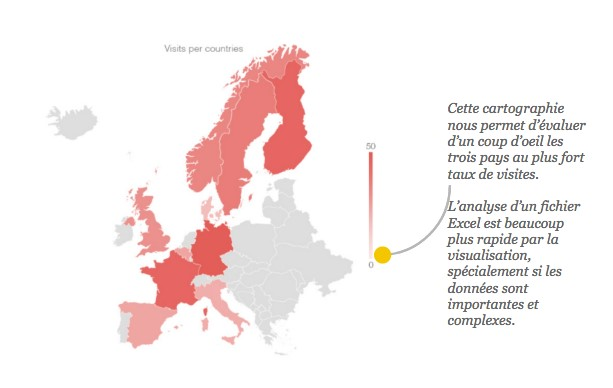 Dataviz : retranscription des informations sur une map