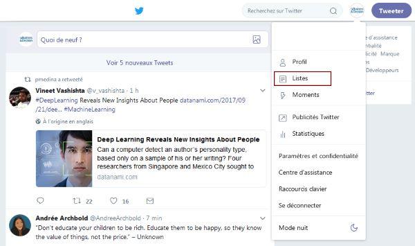 Listes Twitter pour surveiller votre audience cible