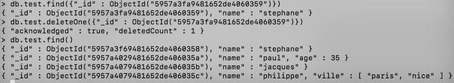 Tutoriel MongoDB 2 - deleteOne