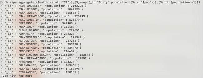 MongoDB: Agrégation - zip-match-sum-sort