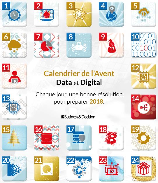 Calendrier de l'Avent 24 résolutions Data & Digital pour 2018