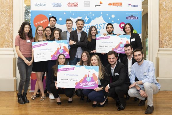 Coup2Boost 2018 - Lauréats primés par Business & Decision