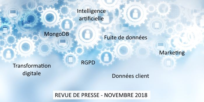Revue de presse Data & Digital - Novembre 2018
