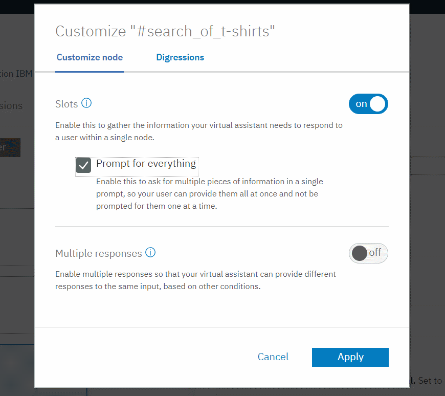 IBM Watson Assistant - Customize search